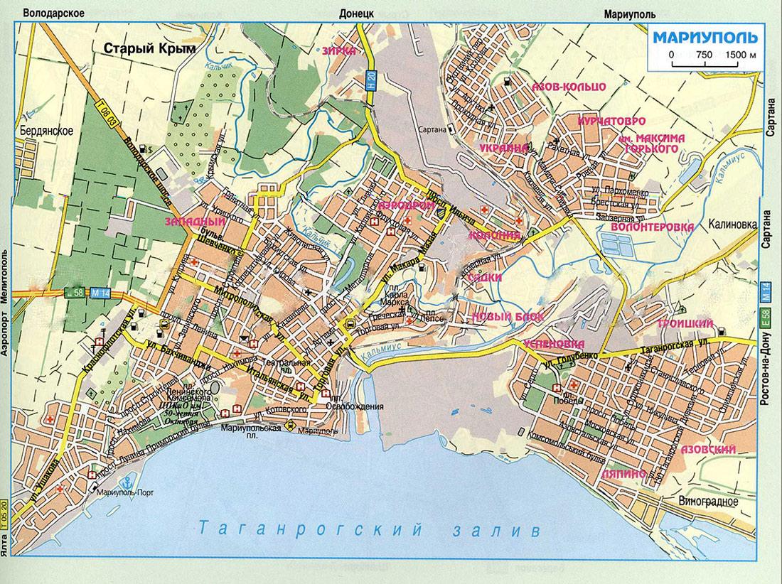 Подробная Карта Урзуфа